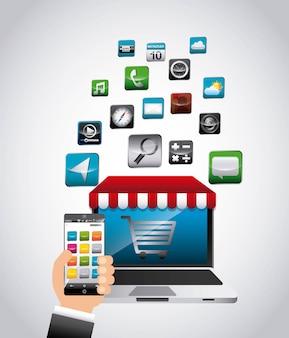 App store design  vector illustration