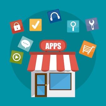 App storeのデジタルデザイン。