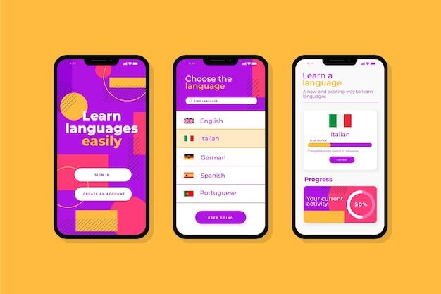 언어를 배우는 앱