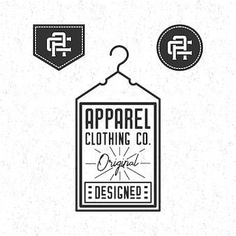 Apparel clothing logo vintage