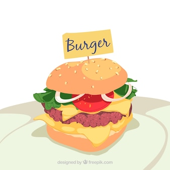 Appetizing burger background
