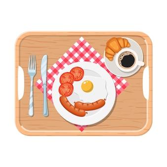 입맛을 돋우는 맛있는 커피의 아침식사,