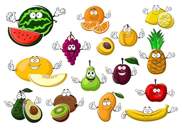 Аппетитные спелые тропические и садовые фрукты