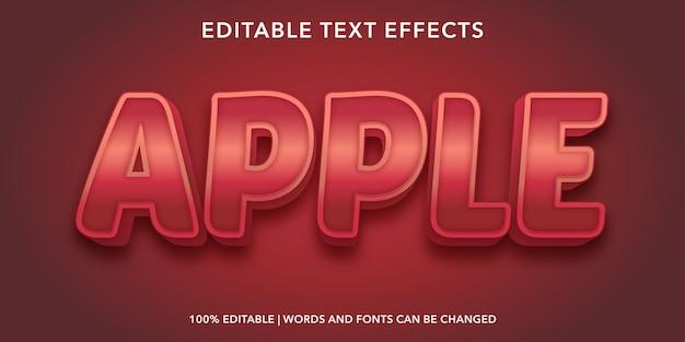 Apple3dスタイルの編集可能なテキスト効果