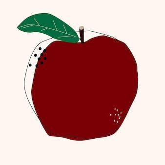 애플 추상 과일 고립 된 벡터 일러스트 레이 션. 여름 색상 디자인입니다. 건강한 생활.