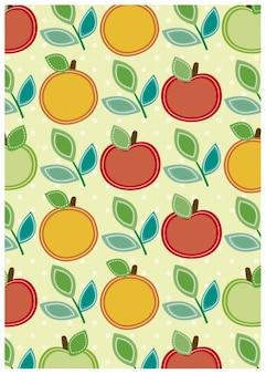 アップル、オレンジ、背景