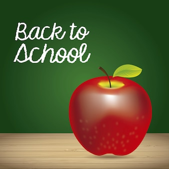 Apple and back to school label