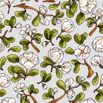 사과 꽃 완벽 한 패턴입니다.