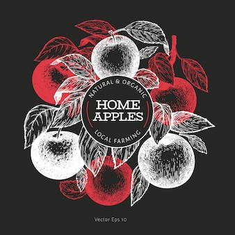 Apple branche design template.