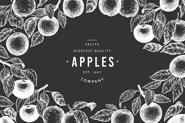 Apple branches template.