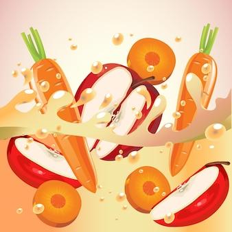Apple and carrot splash