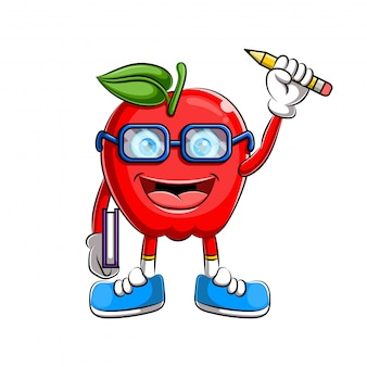 Apple character design or apple mascot