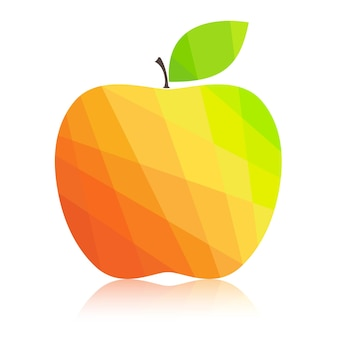Apple colorful polygonal abstract.