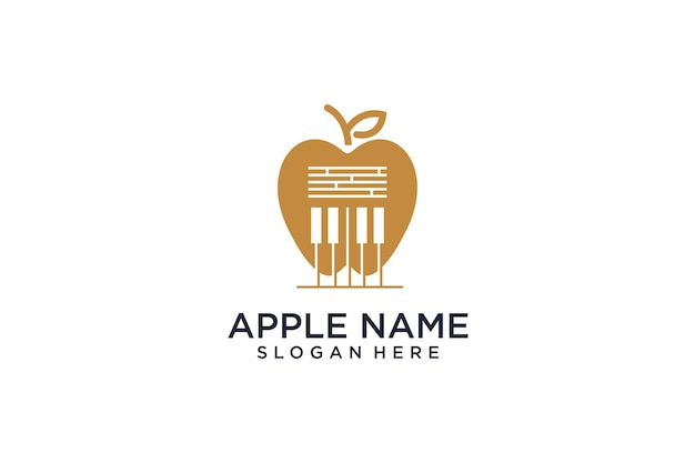 Apple concept logo blends with music