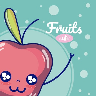 Apple cute fruit cartoons