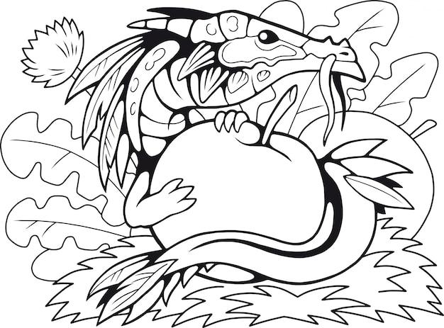 Яблочный дракон