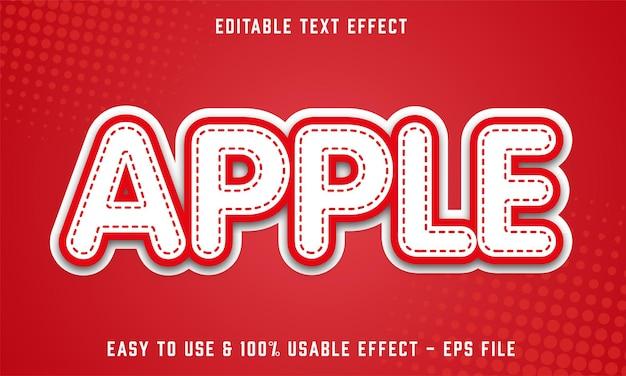 Apple editable text effect