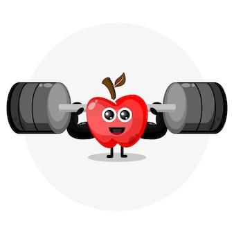 애플 피트니스 귀여운 캐릭터 로고