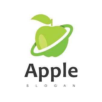 Apple fruit logo design template