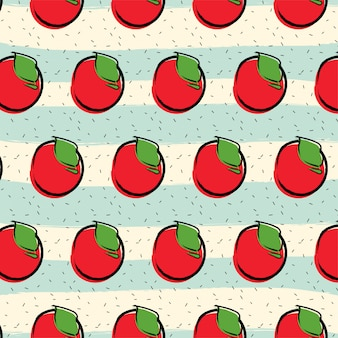 Apple fruit pattern background