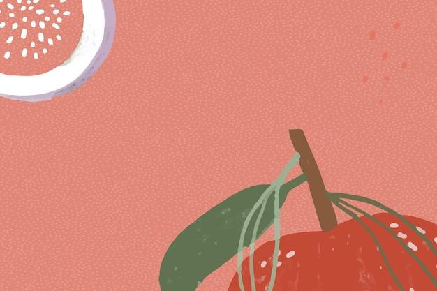 Frutto di mela su una risorsa di progettazione di sfondo rosso
