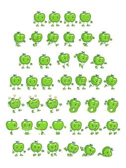 Зеленые apple game sprites