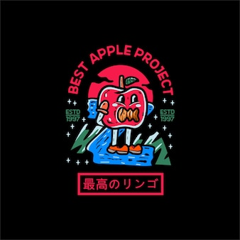 Apple illustration character japanese style