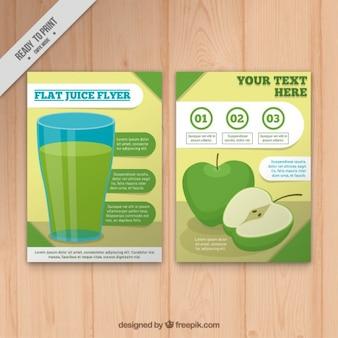 Brochure succo di mela