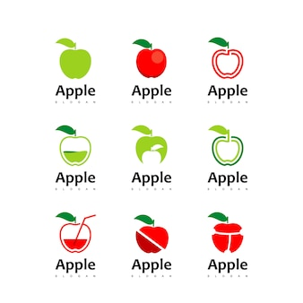 Apple logo set