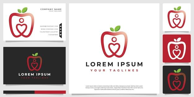 Логотип apple с абстрактным сердцем