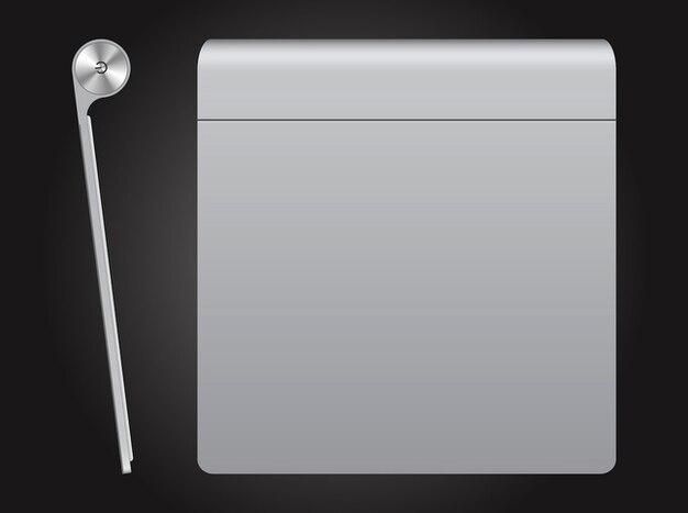 Apple magic trackpad button vector