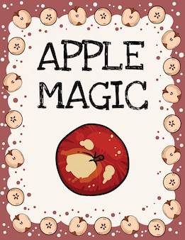 Apple magic with apples frame