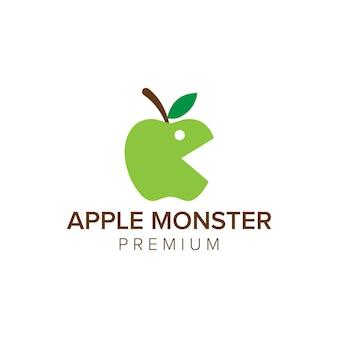 アップルモンスターロゴアイコンベクトルテンプレート