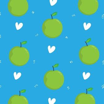 Яблочный узор фона