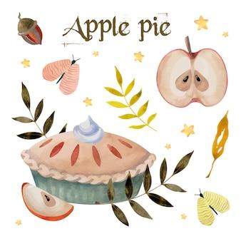 アップルパイ水彩セット