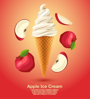 アップルサンデーソフトクリーム