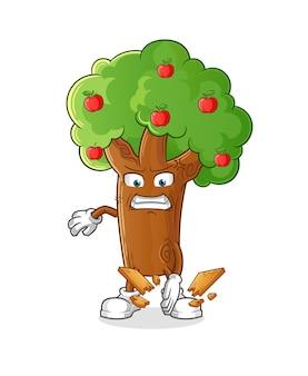 りんごの木空手マスコット。漫画