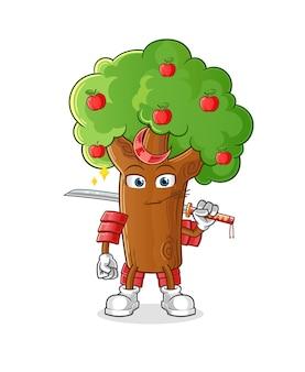 アップルツリー侍漫画。漫画のマスコット