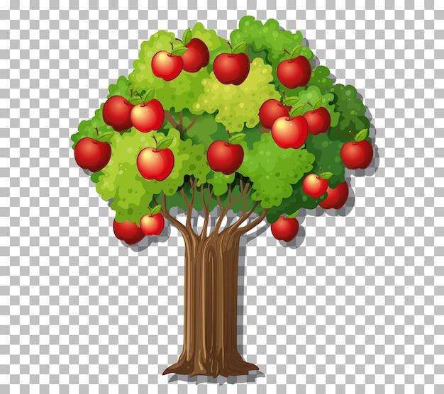 Albero di mele su sfondo trasparente
