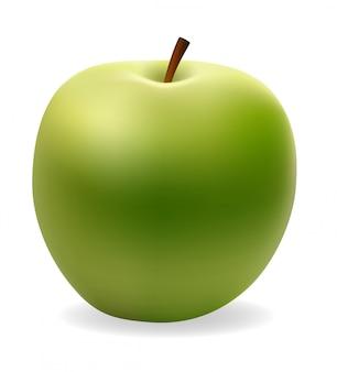Apple, зеленый векторная иллюстрация