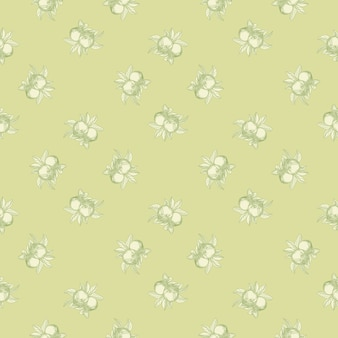 Apples seamless pattern on green background. vintage botanical wallpaper.
