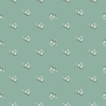 緑のリンゴのシームレスなパターン