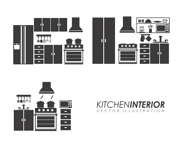 Appliances design over white background vector illustration
