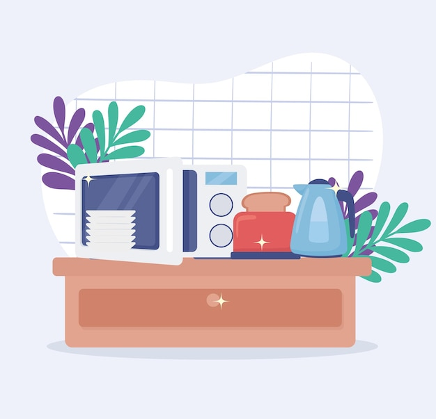 Appliances kitchen in home