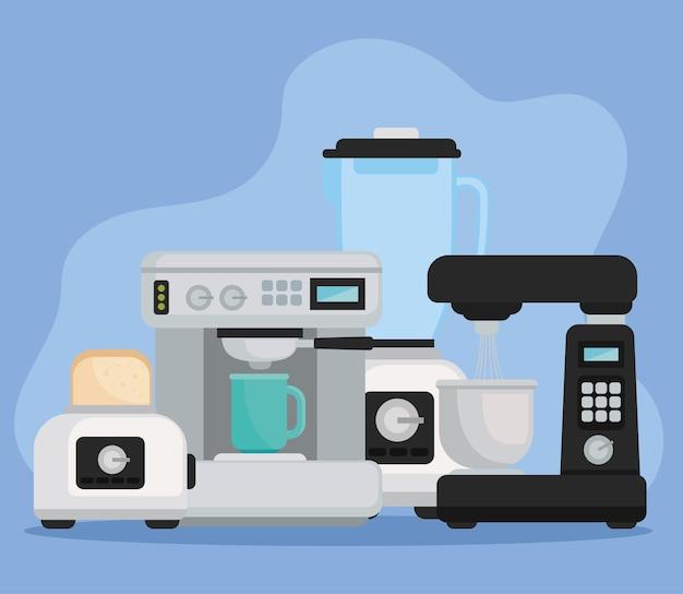 コーヒーショップの電化製品