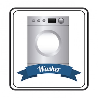 Appliances over white background