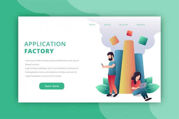 Application developer landing page
