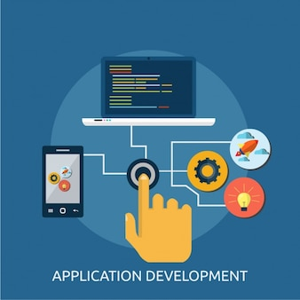 Application development background