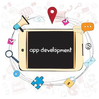 アプリケーション開発クリエイティブプロセスビジネスコンセプト