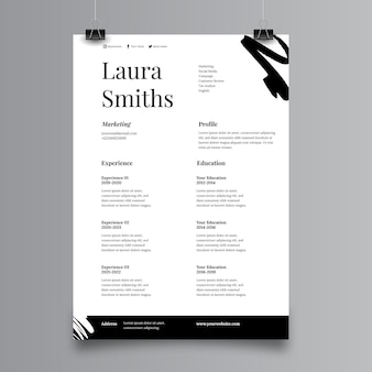 Application page template minimalist style